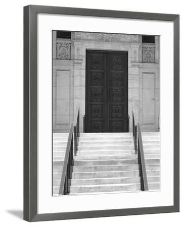 Public Library in Black and White, New York City-Keith Levit-Framed Photographic Print