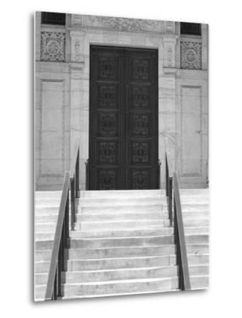 Public Library in Black and White, New York City-Keith Levit-Metal Print