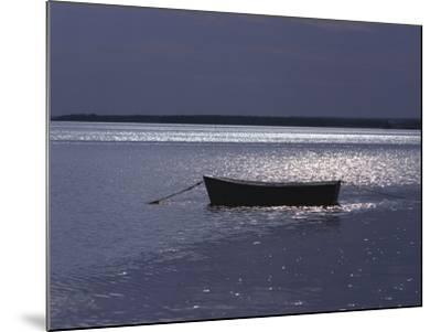 Moored Boat in the Moonlight, Nova Scotia-Keith Levit-Mounted Photographic Print
