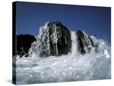 Atlantic Wave Washing Over Rock, County Cork, Ireland-Paul Kay-Stretched Canvas Print