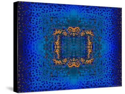 Blue and Orange Fractal Design-Albert Klein-Stretched Canvas Print