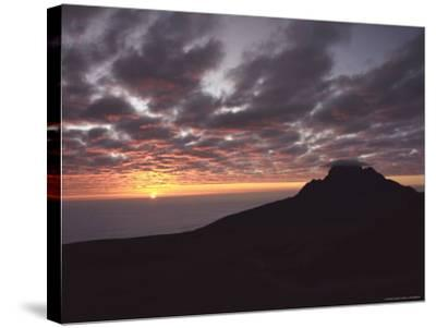 Sunrise Above Clouds at 5000 Meters, Mt. Kilimanja-Keith Levit-Stretched Canvas Print