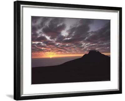 Sunrise Above Clouds at 5000 Meters, Mt. Kilimanja-Keith Levit-Framed Photographic Print