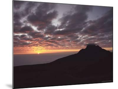 Sunrise Above Clouds at 5000 Meters, Mt. Kilimanja-Keith Levit-Mounted Photographic Print