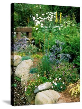 Garden Situated on a Hillside Overlooking Loch Ness, Scotland-Lynn Keddie-Stretched Canvas Print