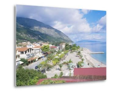 Kefalonia, the Beach at Poros-Ian West-Metal Print