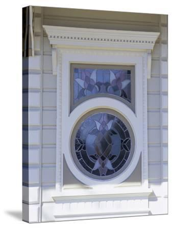 Window on a Building--Stretched Canvas Print