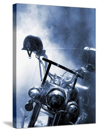 Close-up of a Motorcycle--Stretched Canvas Print