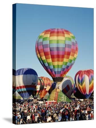 Colorful Hot Air Balloons, Albuquerque Balloon Fiesta, Albuquerque, New Mexico, USA--Stretched Canvas Print