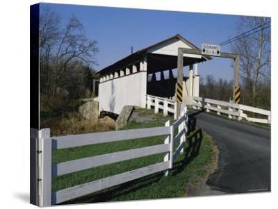 Snooks Covered Bridge, Bedford County, Pennsylvania, USA--Stretched Canvas Print