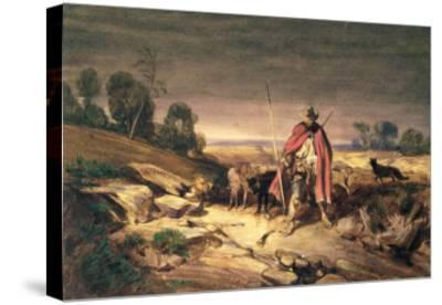 The Return of the Shepherd-Gabriel-alexandre Descamps-Stretched Canvas Print