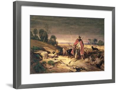 The Return of the Shepherd-Gabriel-alexandre Descamps-Framed Giclee Print