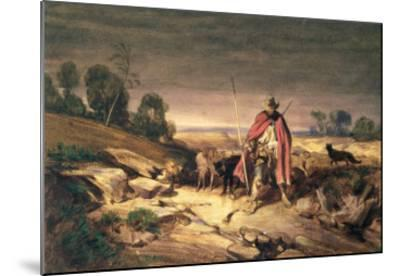The Return of the Shepherd-Gabriel-alexandre Descamps-Mounted Giclee Print