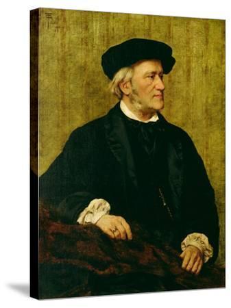 Portrait of Richard Wagner-Giuseppe Tivoli-Stretched Canvas Print