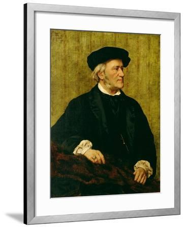 Portrait of Richard Wagner-Giuseppe Tivoli-Framed Giclee Print