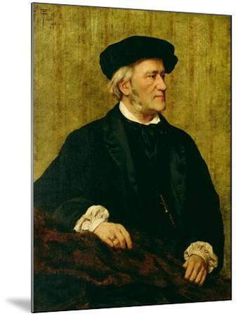 Portrait of Richard Wagner-Giuseppe Tivoli-Mounted Giclee Print