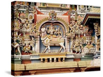 Relief Depicting Shiva and Parvati Riding on Nandi--Stretched Canvas Print