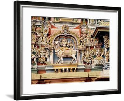 Relief Depicting Shiva and Parvati Riding on Nandi--Framed Giclee Print