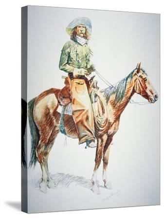 Arizona Cowboy, 1901-Frederic Sackrider Remington-Stretched Canvas Print