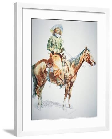 Arizona Cowboy, 1901-Frederic Sackrider Remington-Framed Giclee Print