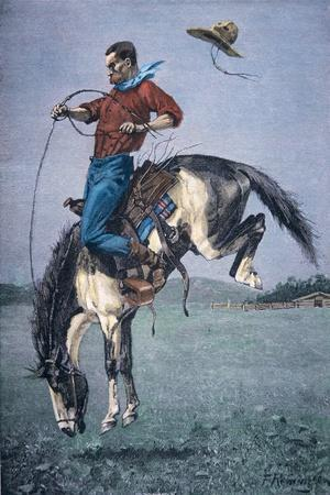 Bronco-Buster-Frederic Sackrider Remington-Stretched Canvas Print