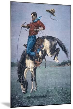 Bronco-Buster-Frederic Sackrider Remington-Mounted Giclee Print