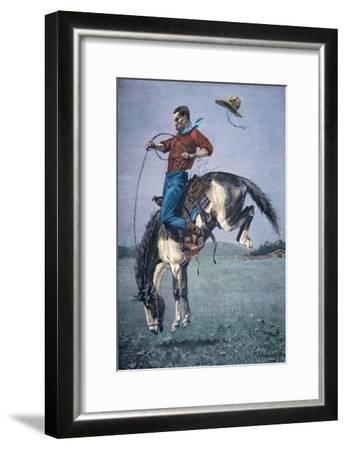 Bronco-Buster-Frederic Sackrider Remington-Framed Giclee Print