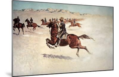Buffalo Soldiers in Pursuit-Frederic Sackrider Remington-Mounted Giclee Print