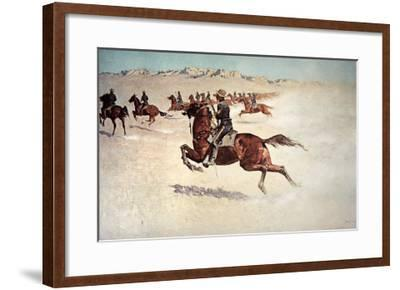 Buffalo Soldiers in Pursuit-Frederic Sackrider Remington-Framed Giclee Print