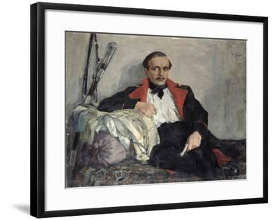 Portrait of Michail Lermontov-Nikolai Pavlovich Ulyanov-Framed Giclee Print