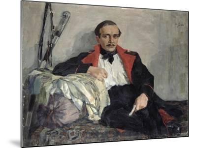 Portrait of Michail Lermontov-Nikolai Pavlovich Ulyanov-Mounted Giclee Print