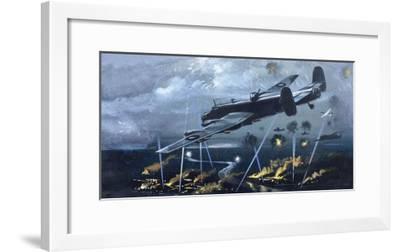 Lancaster Bomber over Germany--Framed Giclee Print