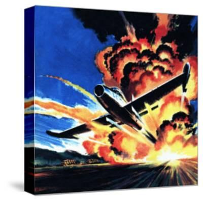 Flight Through an Inferno-Wilf Hardy-Stretched Canvas Print