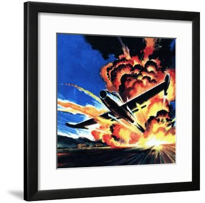 Flight Through an Inferno-Wilf Hardy-Framed Giclee Print