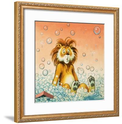 Leo the Friendly Lion-Virginio Livraghi-Framed Giclee Print