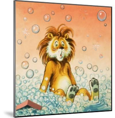 Leo the Friendly Lion-Virginio Livraghi-Mounted Giclee Print