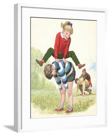 L For Leapfrog-Clive Uptton-Framed Giclee Print
