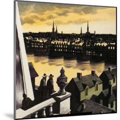 Great Fire of London-Ron Embleton-Mounted Giclee Print