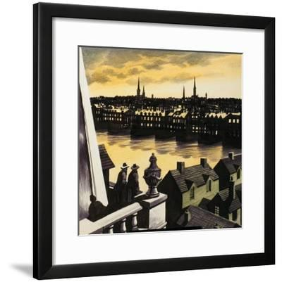 Great Fire of London-Ron Embleton-Framed Giclee Print