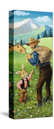 Brer Rabbit-Virginio Livraghi-Stretched Canvas Print