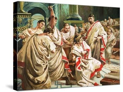 The Death of Julius Caesar-C.l. Doughty-Stretched Canvas Print