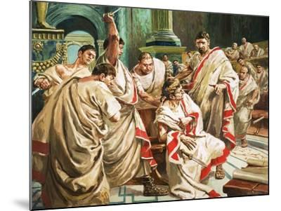 The Death of Julius Caesar-C.l. Doughty-Mounted Giclee Print