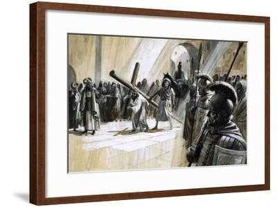Christ Carrying the Cross-Andrew Howat-Framed Giclee Print