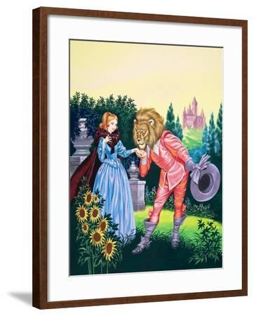 Beauty and the Beast-Ron Embleton-Framed Giclee Print
