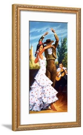 The Flamenco from Spain-Robert Brook-Framed Giclee Print