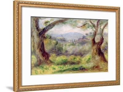 Landscape at Les Collettes, 1910-Pierre-Auguste Renoir-Framed Giclee Print