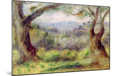 Landscape at Les Collettes, 1910-Pierre-Auguste Renoir-Mounted Giclee Print
