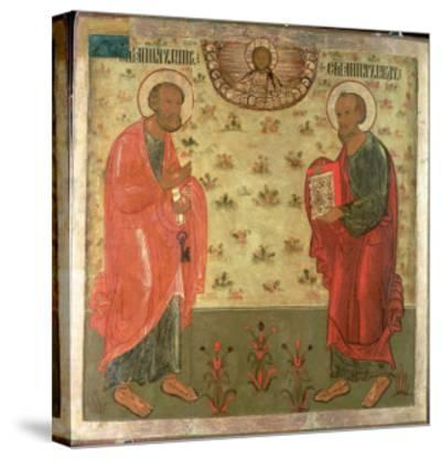Apostles Peter and Paul, 1708-Feoktist Klimentov-Stretched Canvas Print