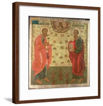 Apostles Peter and Paul, 1708-Feoktist Klimentov-Framed Giclee Print