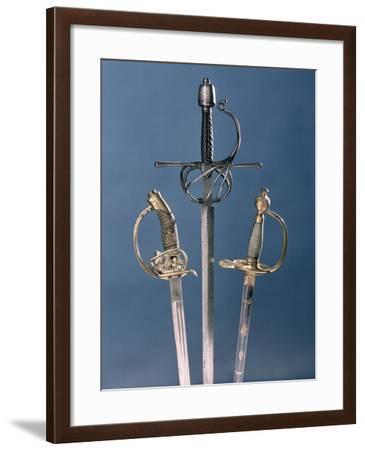 Infantry Officer's Sword, 1796, Swept-Hilt Rapier, c.1600, Prussian Officer's Sword, 1878--Framed Giclee Print